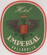 Hotel Label - Spain - Valladolid - Hotel Imperial - España Etiquette Publicité - Label Publicity - Etichetta Pubblicita - Etiketten Van Hotels