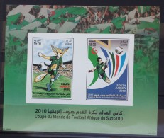 Algeria 2010 MNH Block S/S - South Africa World Championship Football Cup Soccer - Algeria (1962-...)