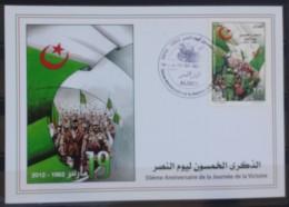Algeria 2012 FDC - 50th Anniv Of Victory Day - Flag - Algérie (1962-...)