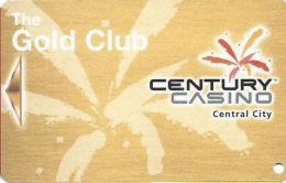 Century Casino - Central City, CO - Slot Card - Silver Reverse - Bronze Color (BLANK) - Casino Cards