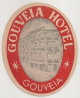 Hotel Label - Portugal - Gouveia - Gouveia Hotel - Etiquette Publicité - Label Publicity - Etichetta Pubblicita - Etiketten Van Hotels