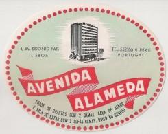 Hotel Label - Portugal - Lisboa - Hotel Avenida Alameda - Etiquette Publicité - Label Publicity - Etichetta Pubblicita - Etiketten Van Hotels