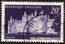 Oblitération Cachet à Date Sur Timbre De France N°  924 - Chambord - Châteaux De La Loire - Gebraucht