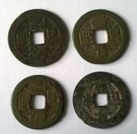 Monnaie - Chine - 4 Monnaies (Cach) à Identifier - - Chine