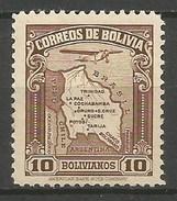 BOLIVIA CORREO AEREO YVERT NUM. 28 * NUEVO CON FIJASELLOS - Bolivia