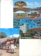 LOTE DE 12 POSTALES DEL PARAGUAY DIFERENTES UNCIRCULATED CIRCA 1970 TBE UNUSED - Paraguay