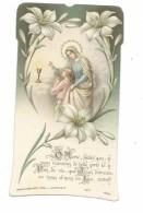IMAGE PIEUSE.. édit Bouasse Lebel N 5477.. Communion Marie Louise CHOISNARD, Eglise De NOGENT De ROTROU (28) En 1910 - Devotieprenten