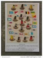 FLAGS AND FUNNELS POSTER CARD INC WHITE STAR, UNION CASTLE AND HAMBURG AMERIKA MARINE ART 1990S NO 165 - Paquebots