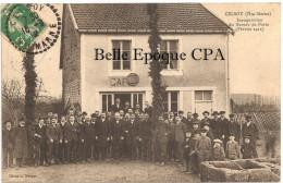 52 - CELSOY - Inauguration Du Bureau De Poste - Février 1911 ++++ Cliché L. Merger +++++ 1912 +++++ RARE / TOP - France