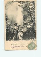 GIMEL : A La Grande Cascade. Promeneurs. 2 Scans. Edition ? - France