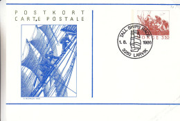 Norvège - Carte Postale De 1986 - Entier Postal - Oblitération Tall Ships Race Larvik - Bateaux - Norwegen