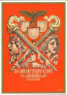 """1939, Privatganzsache """"""""Tag Der Deutschen Kunst"""""""" Mit 6 Pfg. Hindenburg Und Zusätzlicher Sondermarke. Ungebraucht Mit SS - Interi Postali"""