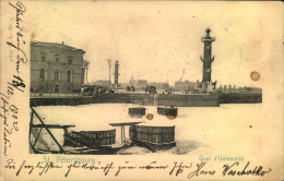 "1903, Ppc St. Petersbourg, Quai D´Université. With Numeral """"1"""" Sent To Vienna. - Russie & URSS"