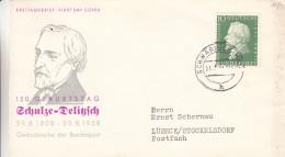 République Fédérale - Lettre De 1958 - Oblitération Schwäbisch... - Deliitzsch - Poliricien - Valeur 7 € - BRD