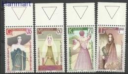 Liechtenstein 1985 Mi Mar871-874 MNH - Women, Symbols, Costumes, Birds Of Prey, Wine, Weights - Aquile & Rapaci Diurni