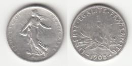 Pièce De 1 Francs  Semeuse 1908 - France