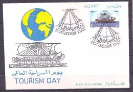 Egypte - 1995 - Enveloppe 1e Jour - Journée Mondiale Du Tourisme - Y&T #1551 - Égypte