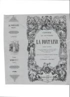 AC - B2075 -  Document De Présentation Pour Un Ouvrage Des Fables De La Fontaine ( 1839) ( Points De Collage Verso) - Plakate & Poster