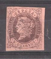ESPANA / Espagne / SPAIN 1862,  Yvert N° 54, 4 Cuartos Brun / Saumon , Obl Cachet De CACERES , 16 Enero 1863  , SUPERBE - 1850-68 Königreich: Isabella II.