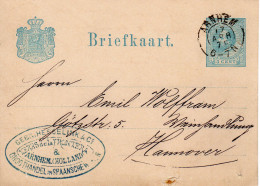 17 APR 79 Bk Met Kleinrond ARNHEM En Firmastempel   Naar Hannover - Postal Stationery