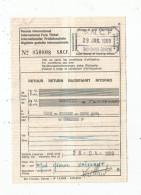 Titre De Transport , Permis International , S.N.C.F. , 1969 , LONDON - Calais Ou Boulogne Ou Dieppe Ou Dunkerque - Europe