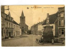 17317  -  Mont St. Guibert  -  Grand'Place Et L'Eglise - Mont-Saint-Guibert