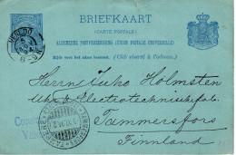 5 NOV 94 Bk Van VENLOO Met Firmastempel Naar Tammerfors In Finland - Postal Stationery
