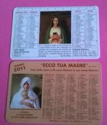 2 CALENDARIETTI RELIGIOSI PLASTIFICATI 2009-2011 - Calendriers