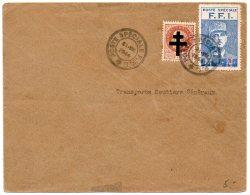 Enveloppe Souvenir Avec Vignette De Gaulle De La Libération De Paris De 1944 - Marcophilie (Lettres)