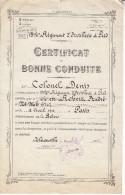 Certificat De Bonne Conduite-thionville 1936 - Documents