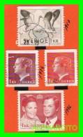 SUECIA  (  SVERIGE EUROPA )  4  SELLOS  AÑO 1967-76 - Gebruikt
