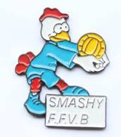 Pin's  SMASHY - F.F.V.B - Mascotte De La Fédération Française De Volley Ball - Coq - S.P. - F661 - Volleyball