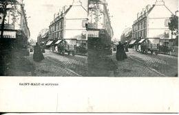 N°49981 -cpa Stereoscopique -Saint Malo- - Stereoscope Cards
