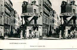 N°49982 -cpa Stereoscopique -Saint Malo- - Stereoscope Cards