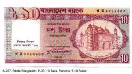 6-287. Billete Bangladesh P-33 . 10 Takas (conmemorativo) 1996 - Bangladesh