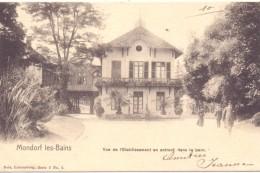 L 5600 BAD MONDORF, Vue De L'Etablissement En Entrant Dans Le Parc., 1903, NELS, Serie 3, No. 3 - Bad Mondorf