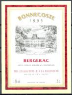 230 - Bergerac - 1995 - Bonnecoste - Mis En Bouteille à La Propriété - Par UVP à F 24 - Bergerac