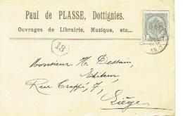 CP/PK Publicitaire DOTTIGNIES 1910 - Paul De PLASSE - Imprimerie - Musique - Courcelles