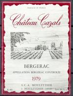 303 - Bergerac - 1979 - Château Cazals - S.C.A. Mouleydier à Mouleydier 24520 - Bergerac