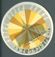 Etiquette Valise Hotel OSAKA JAPAN Japon Luggage Label - Hotel Labels