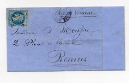 """!!! BALLON MONTE """"LA VILLE DE FLORENCE"""" POUR RENNES, AVEC TEXTE - Guerra De 1870"""