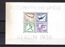 J O De  Berlin 1936 , BF 4 / 5**,(coup Soleil Sur Le Bord BF 4), Cote 260 €, - Blocs
