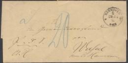B310 Brief Portopflichtige Dienstsache 1876 Mit Seltenem Handstempel Hannover C An Gemeindevorstand Echt Gelaufen - Allemagne