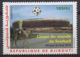 Djibouti Dschibuti 2010 Mi. 814 ** Neuf MNH Coupe Du Monde Football Soccer World Cup FIFA South Africa Fußball WM RARE - Dschibuti (1977-...)