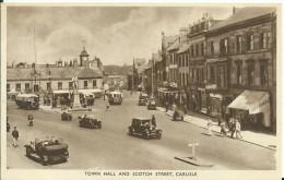 Carlisle,Town Hall And Scotch Street - Cumberland/ Westmorland