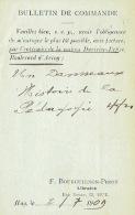 CP/PK Publicitaire HUY 1909 - F. BOURGUIGNON-PIRON  - Librairie - Hoei