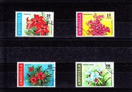 1969 - ANGUILLA - O/FINE CANCELLED - FLOWERS - Yv 39/42 - Mi 70/73 - Anguilla (1968-...)