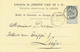 CP/PK Publicitaire LIER 1899 - JOSEPH VAN IN & Cie - Uitgever - Drukkerij - Boekhandel - Lier