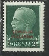 SOMALIA 1931 SOPRASTAMPATO D´ITALIA REGNO ITALY OVERPRINTED IMPERIALE CENT. 25 MNH BEN CENTRATO - Somalia
