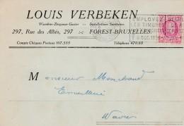 Forest,carte Publicité ,Louis Verbeken,installation Sanitaire - Forest - Vorst